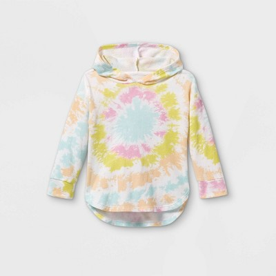 Grayson Mini Toddler Girls' Tie-Dye Hoodie Sweatshirt - Pink