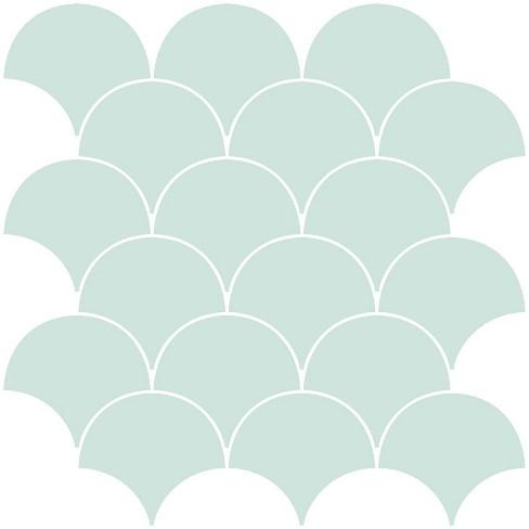Brewster Shell Peel Stick Backsplash Tile Paper Seafoam Green Target