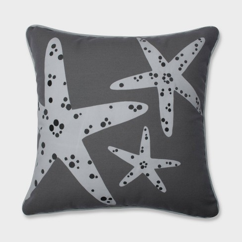 Stunning Starfish Throw Pillow Gray - Pillow Perfect - image 1 of 1