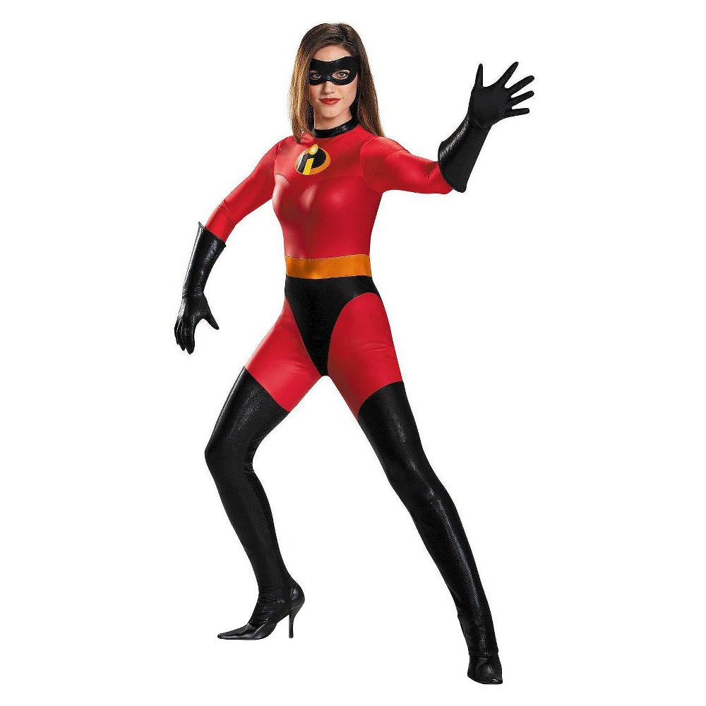 Image of Halloween Disney Women's The Incredibles: Mrs. Incredible Bodysuit Costume - Large