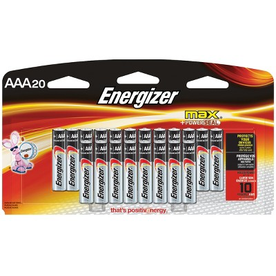 Energizer Max AAA Batteries 20 ct (E92LP-20)