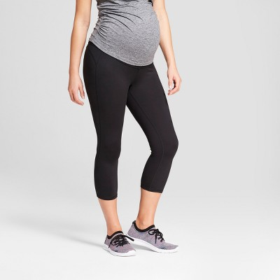 Maternity Freedom Over the Belly Capri Leggings - C9 Champion® Black L