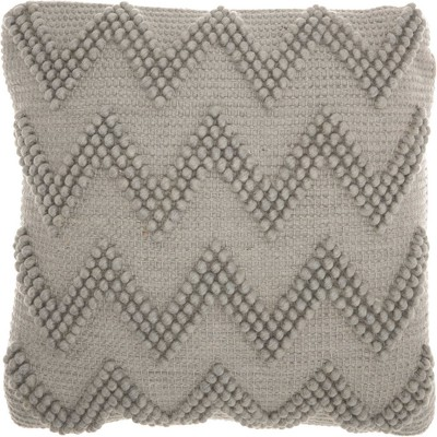 "20""x20"" Chevron Oversize Square Throw Pillow Light Gray - Mina Victory"