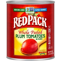 Red Pack Canned Whole Peeled Tomatoes 28 oz