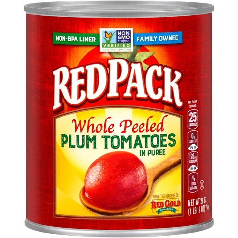 Red Pack Canned Whole Peeled Tomatoes 28 oz - image 1 of 4