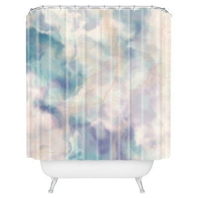 Arrow Stripe Shower Curtain Purple - Deny Designs