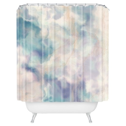 Watercolor Shower Curtain Purple