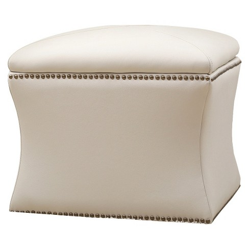Monica Pedersen Lily Storage Ottoman Ivory - Abbyson Living - image 1 of 4