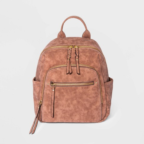 VR NYC Multi Zip Dome Backpack - Copper - image 1 of 4