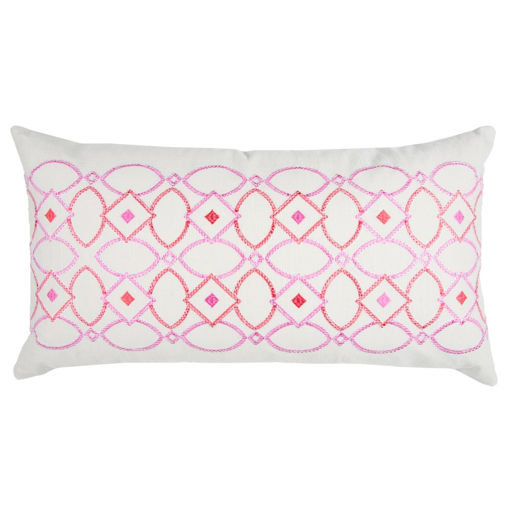 Pink Cotton Throw Pillow (14