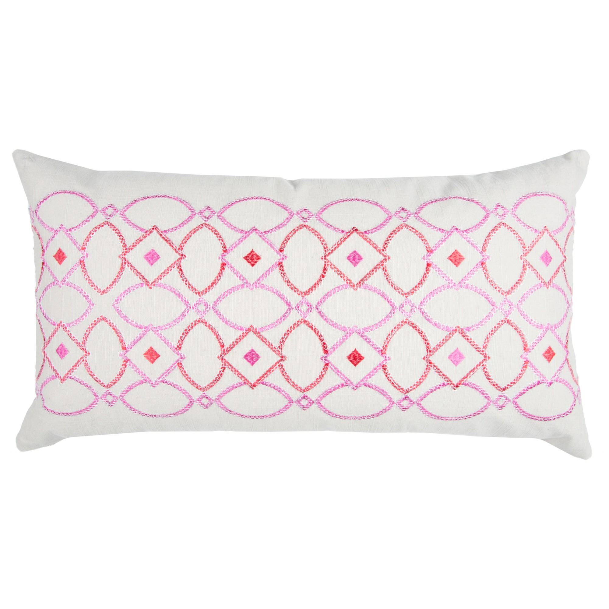Pink Cotton Throw Pillow (14