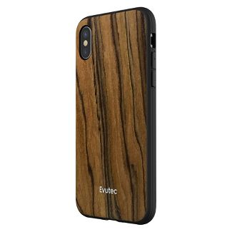 Evutec Apple iPhone X/XS Case (with Car Vent Mount) - Burmese Rosewood