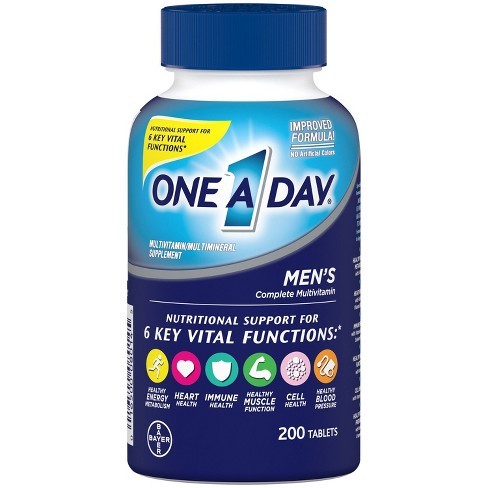 One A Day For Men Multivitamin Multimineral Dietary Supplement Tablets 200ct Target