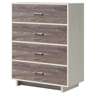 Richfield Two - Tone 4 Drawer Dresser - White/Rustic Medium Oak - Room & Joy
