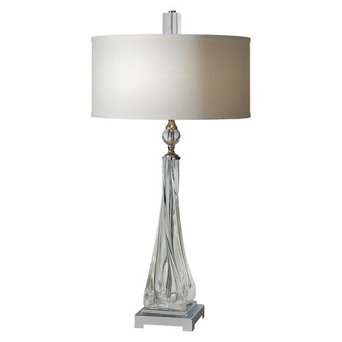 Uttermost Grancona Twisted Glass Table Lamp  - Clear - image 1 of 2