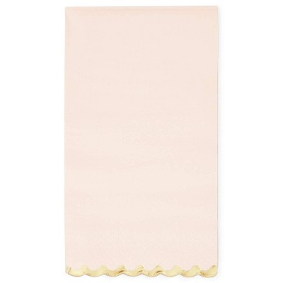 Sparkle and Bash 50PCS Pink and Gold Paper Dinner Napkins Disposable for Wedding, 4.4 x 7.8""