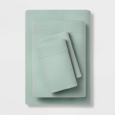 Queen Solid Jersey Sheet Set Mint - Room Essentials™