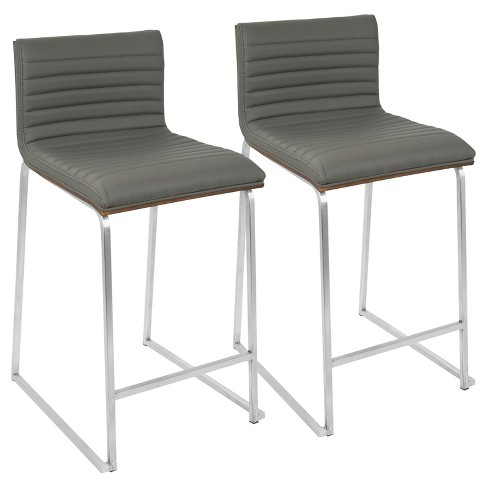 "Set of 2 26"" Mara Contemporary Counter Height Barstools - Lumisource - image 1 of 4"