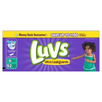 Luvs Ultra Leakguard Diapers Value Pack - Size 6 (92 ct)