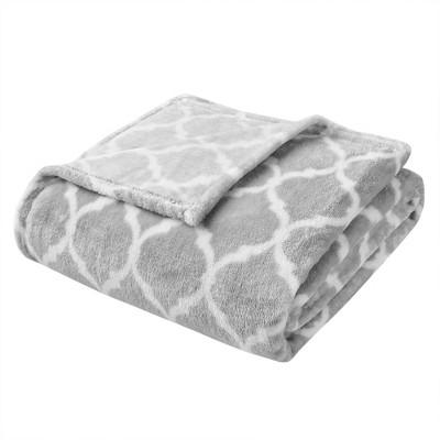 "60""x70"" Oversized Ogee Throw Blanket Gray"
