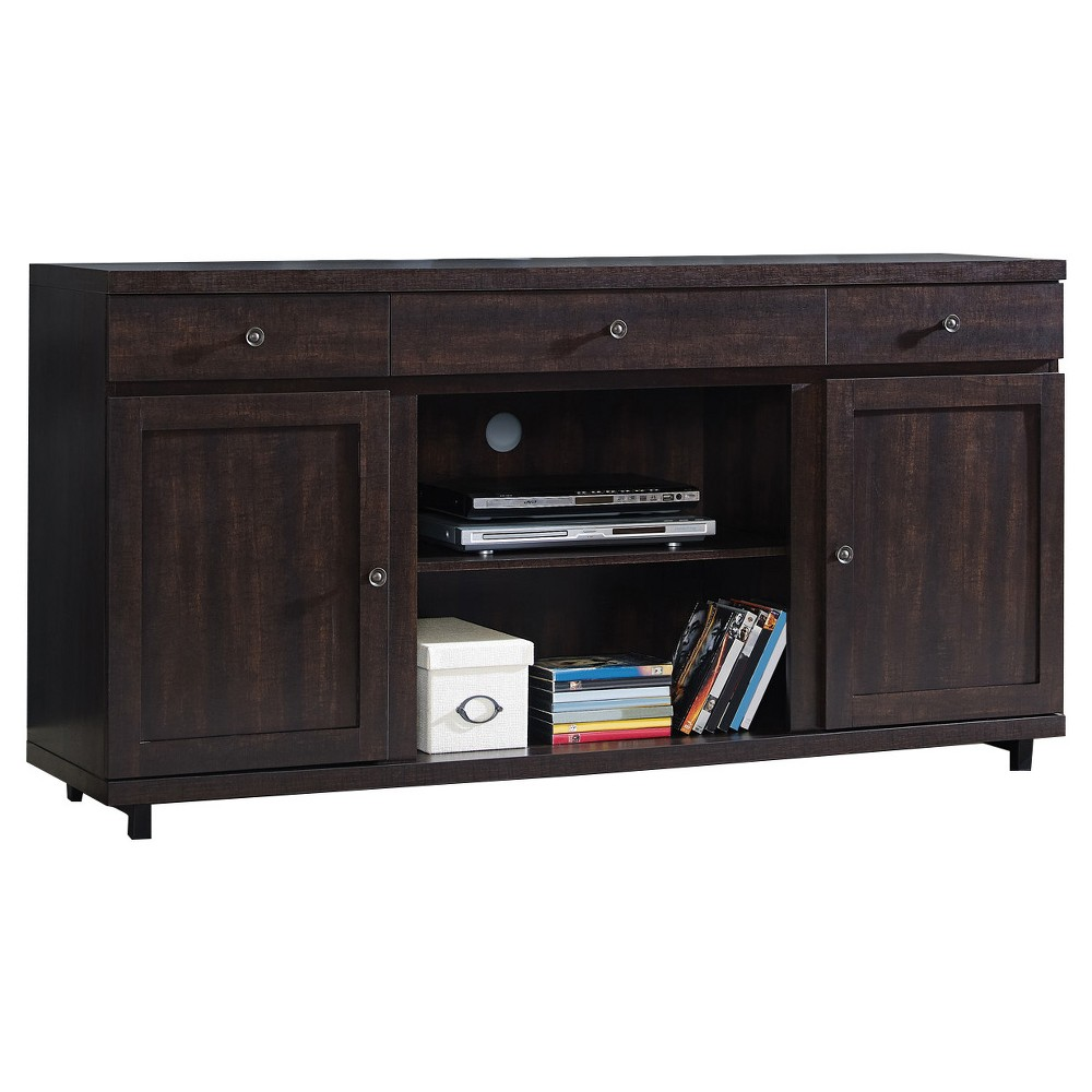 Wood 65 TV Stand With Storage Espresso - Home Source Industries, Brown