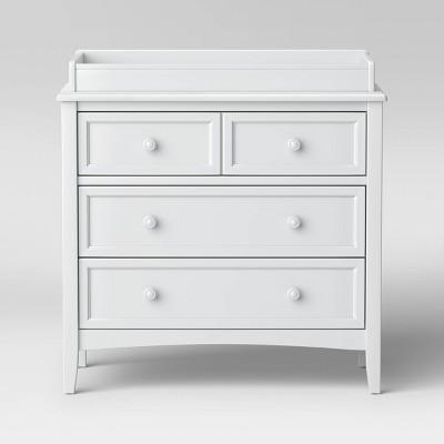 Delta Children Westminster 3 Drawer Dresser with Changing Top - Bianca White