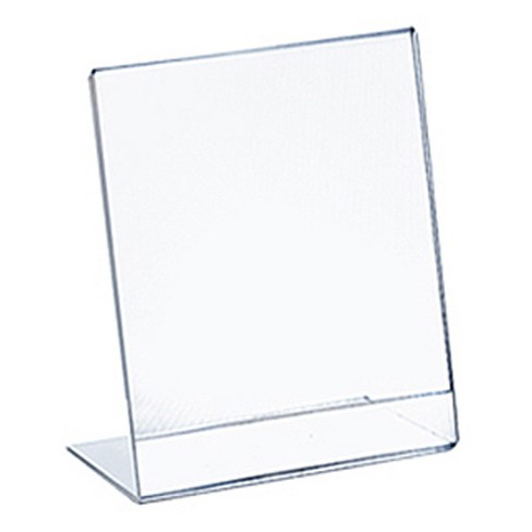 "Azar® 4"" x 6"" L-Shaped Acrylic Sign Holder 10ct - image 1 of 1"