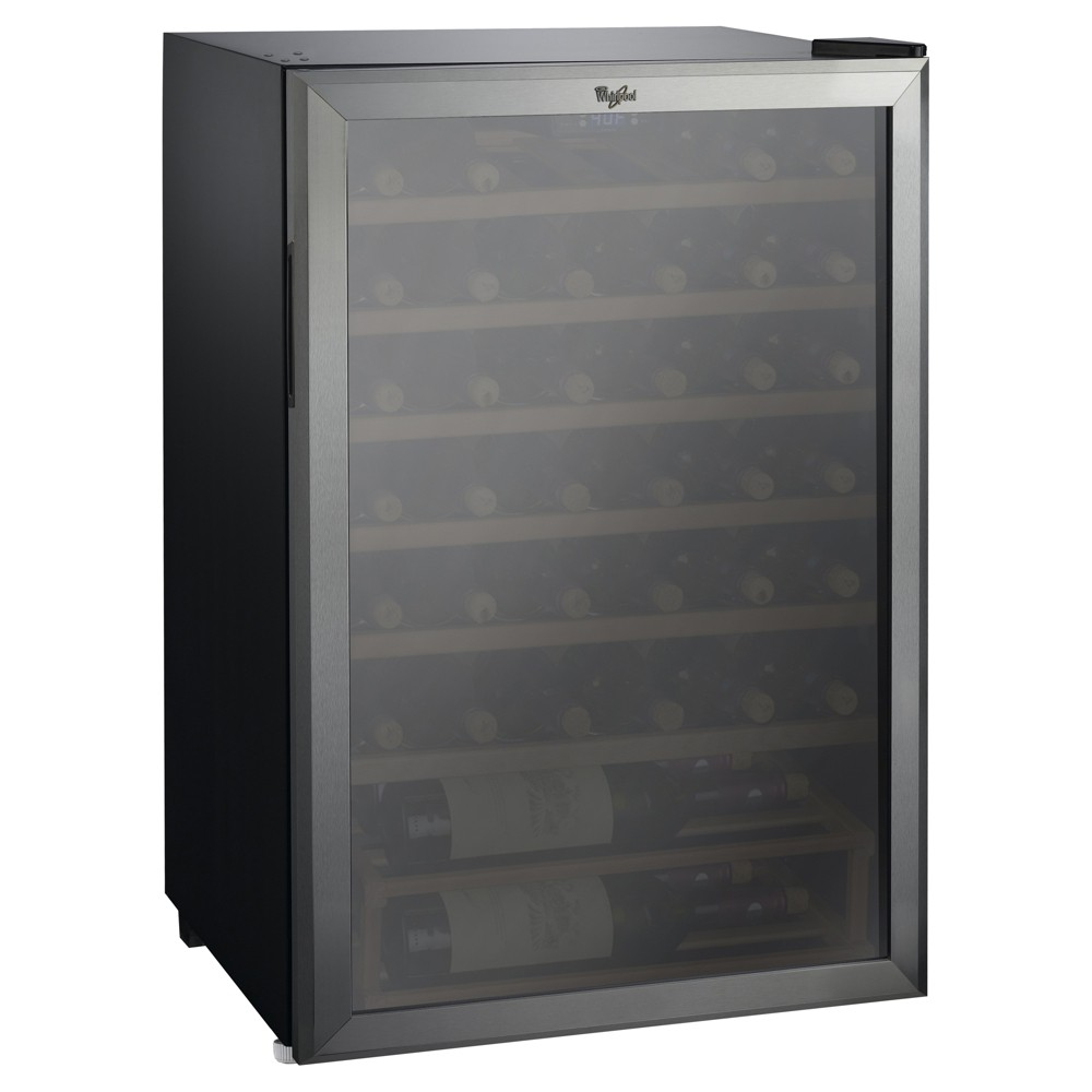 Image of Whirlpool 40 Bottle 4.5 Cu. Ft Wine Refrigerator - Stainless Steel JC-133EZ