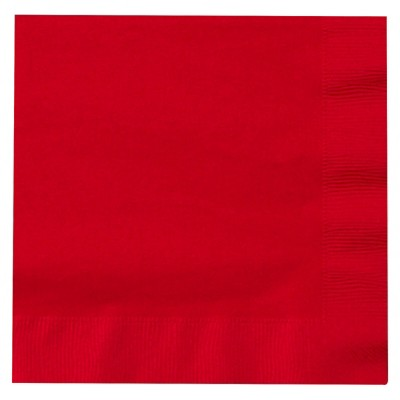 50ct Red Lunch Napkin
