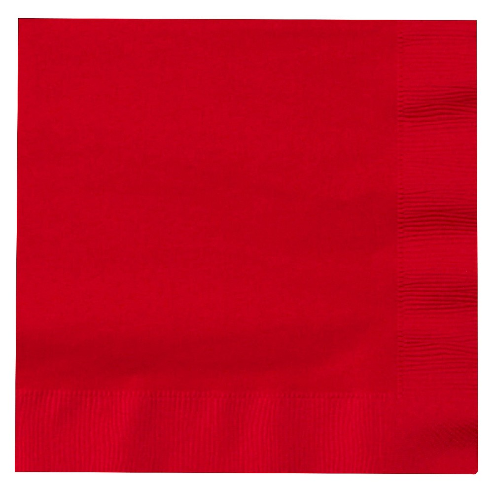 50ct Red Lunch Napkin Disposable Napkins Discounts