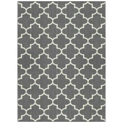 7'x10' Quatrefoil Design Area Rug Gray - Threshold™