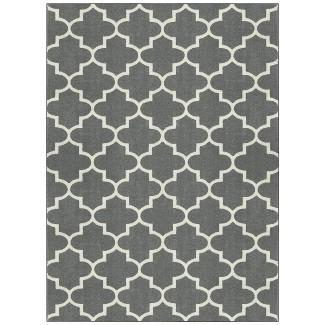 7'x10' Quatrefoil Design Area Rug Gray - Threshold™