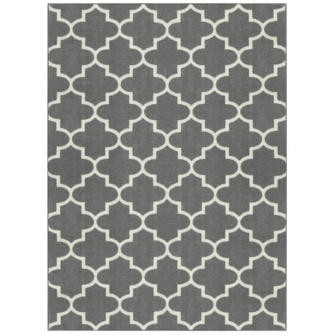 X Fretwork Design Area Rug Gray Threshold Target