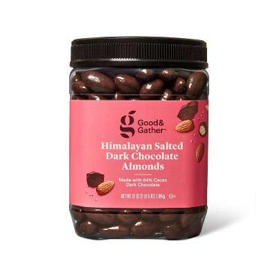 Himalayan Salted Dark Chocolate Almonds - 37oz - Good & Gather™