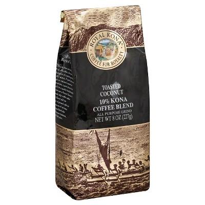 Royal Kona Toasted Coconut Medium Roast Ground Coffee - 8oz