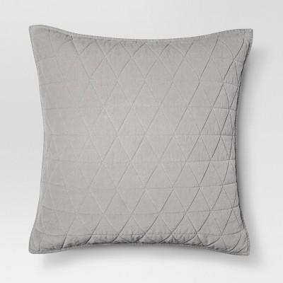 Gray Vintage Wash Velvet Sham (Euro)- Threshold™