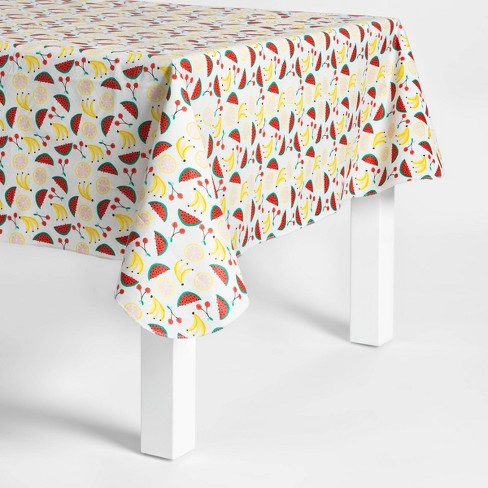 "84""x60"" Fruit Salad Print PEVA Tablecloth - Sun Squad™ - image 1 of 1"