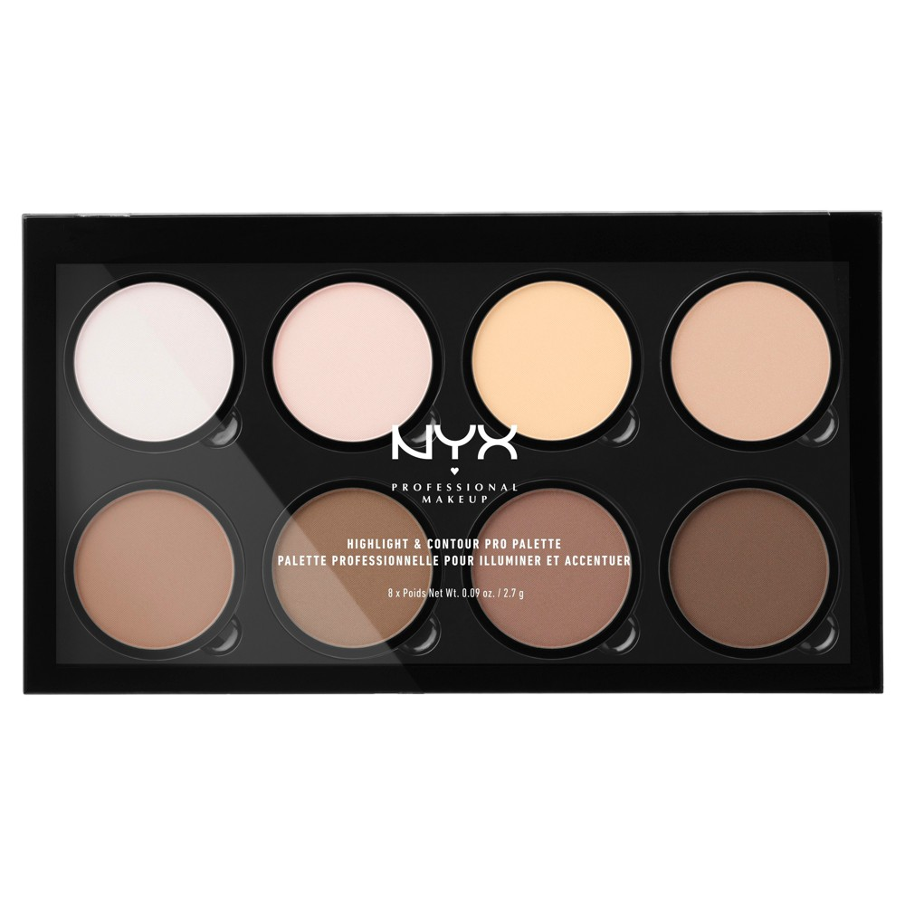Nyx Professional Makeup Highlight & Contour Pro Palette - 0.09oz