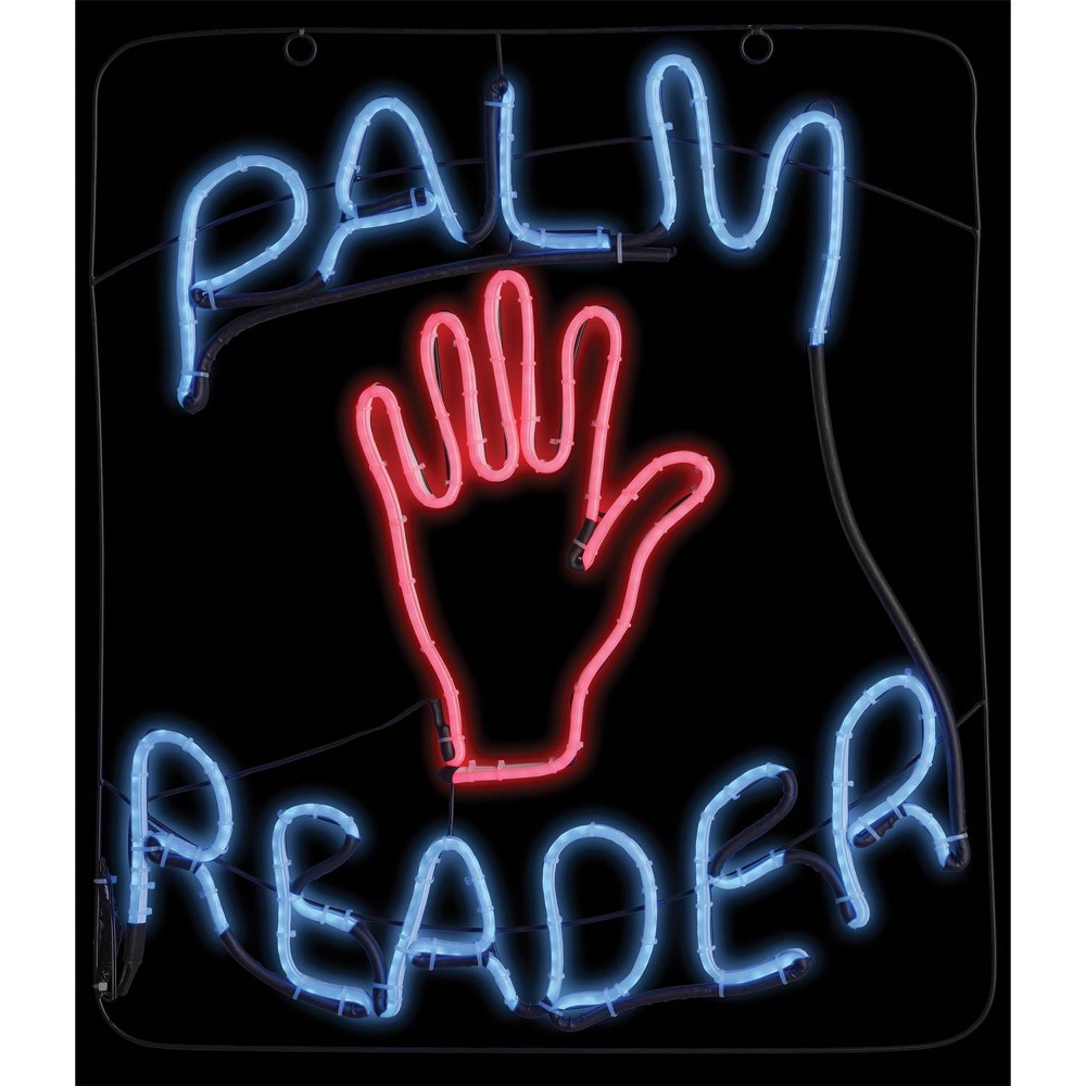 """Image of """"23 """"""""Halloween Palm Reader Glow Light Sign"""""""