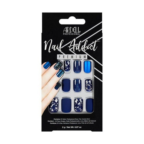 Ardell Nail Addict False Nails Matte Blue - 24ct - image 1 of 1