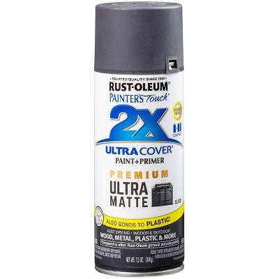 Rust-Oleum 12oz 2X Painter's Touch Ultra Cover Matte Slate Spray Paint