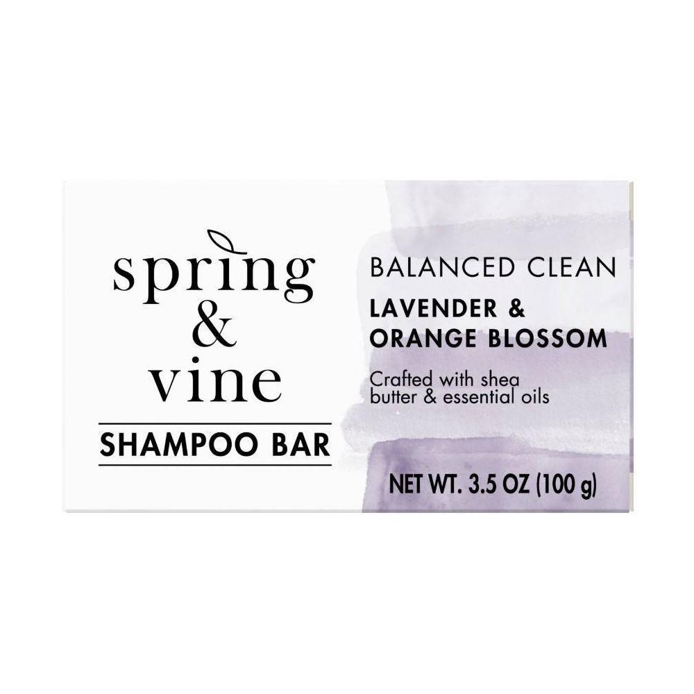Image of Spring & Vine Lavender & Orange Blossom Moisture Shampoo Bar - 3.5oz