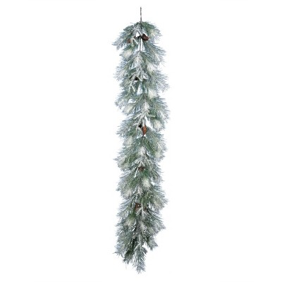 Vickerman 6' Frosted Ansell Pine Artificial Christmas Garland, Unlit