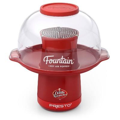 Presto Orville Redenbacher's Fountain Hot Air Popper, Red- 04868
