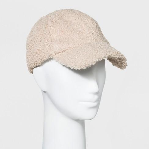 7548f5b6e7f5c Women s Baseball Hat Sherpa - Universal Thread™ Cream   Target
