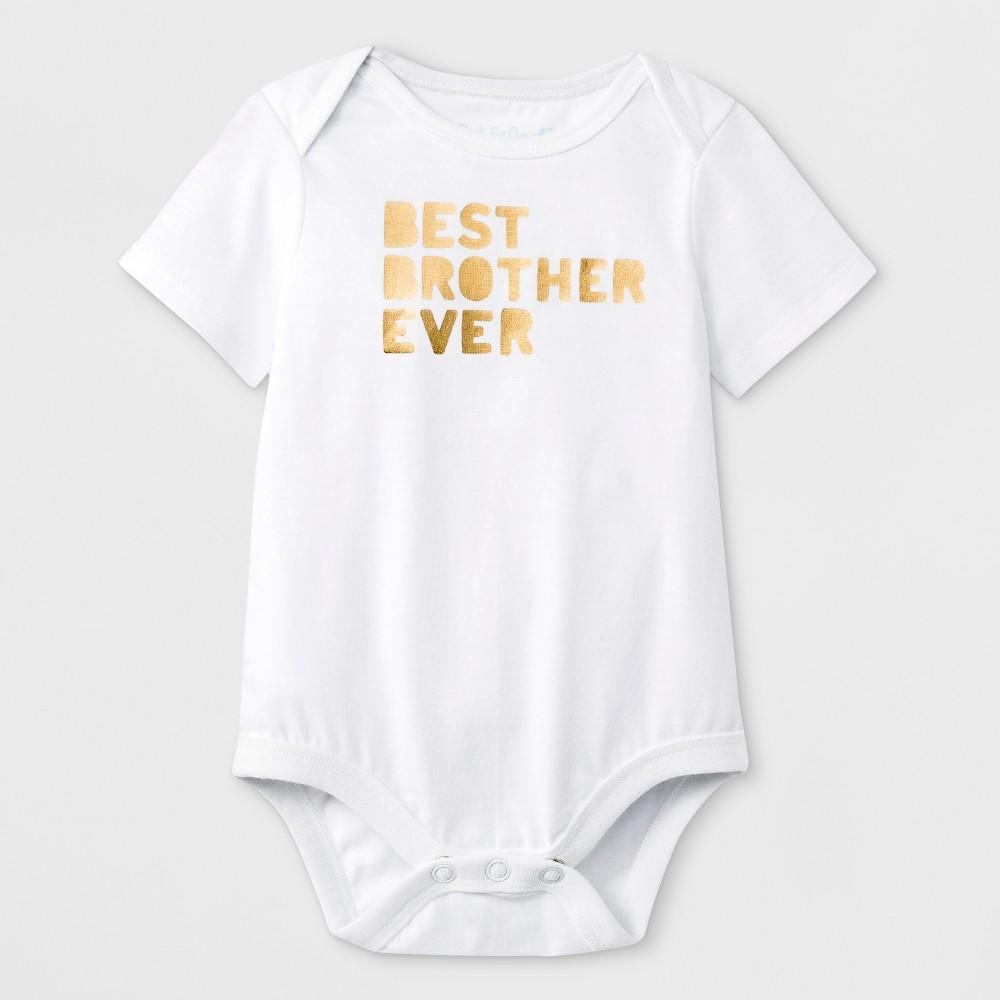 Baby Boys' Short Sleeve 'Best Brother Ever' Graphic Bodysuit - Cat & Jack White Newborn