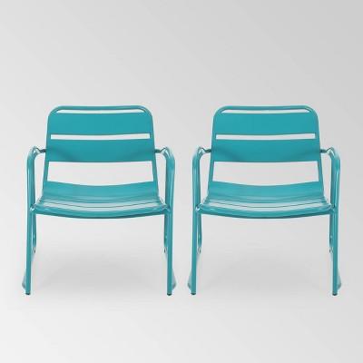 Cowan 2PK Iron Dining Chair - Christopher Knight Home