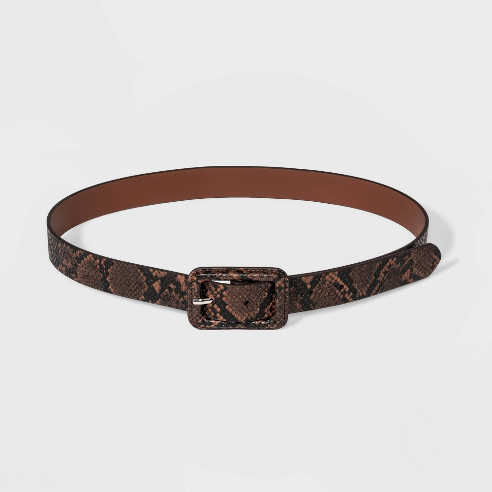 Best Online Women Covered Buckle Snake Belt Wild Fable Brown L