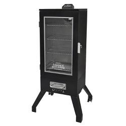 "Smoke Hollow 36"" Digital Electric Portable Backyard BBQ Smoker w/ Window, Black"