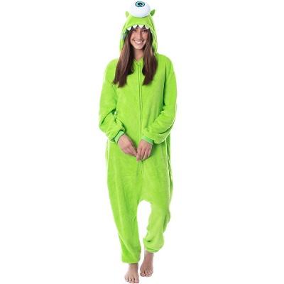 Disney Monsters Inc Adult Mike Wizowski Kigurumi Costume Union Suit Pajama